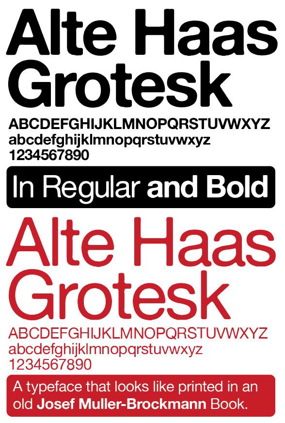 Alte Haas Grotesk Font