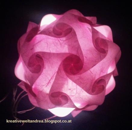 meine kreative welt leuchtkugel in rosa. Black Bedroom Furniture Sets. Home Design Ideas