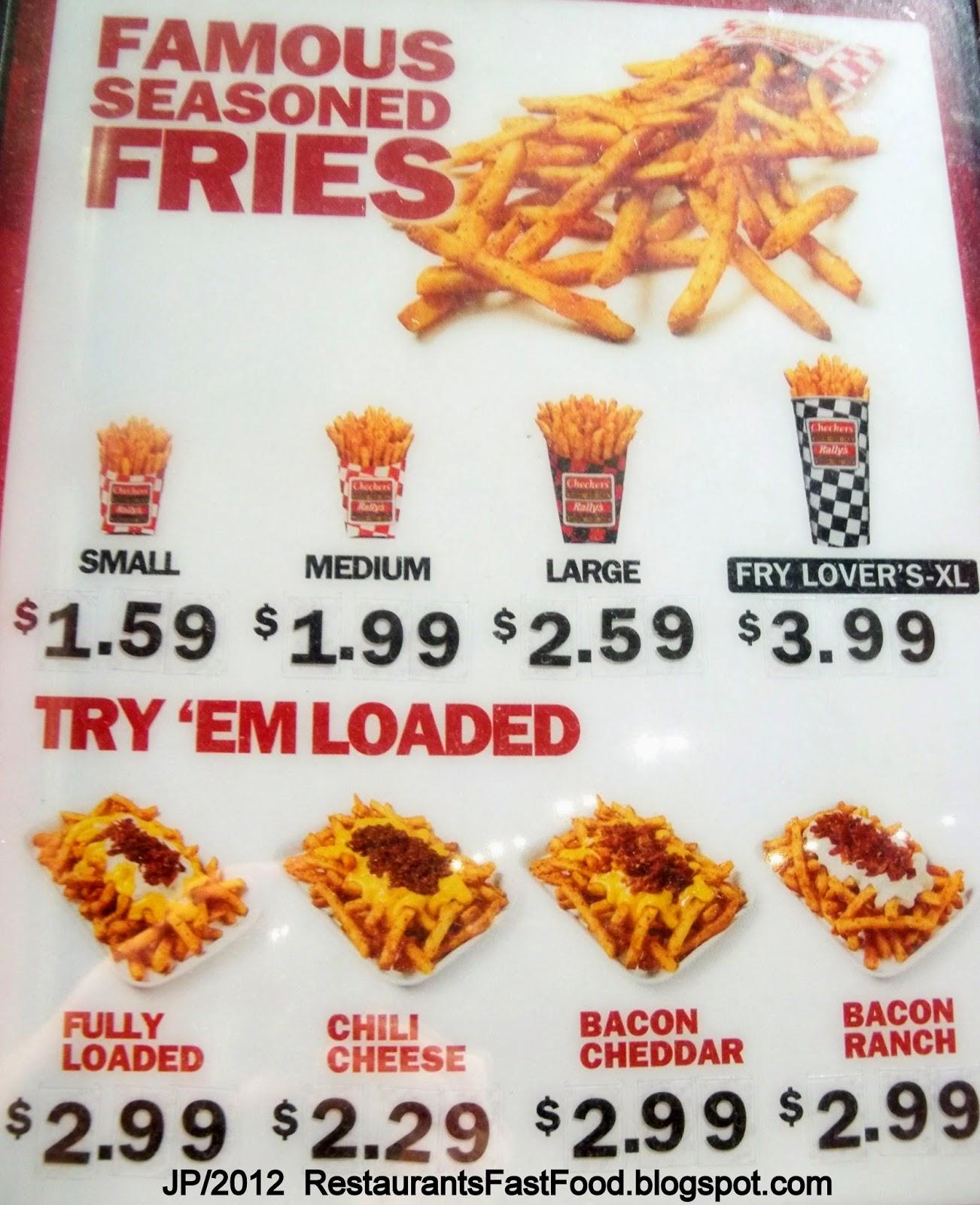 Rallys Funnel Cake Fries Price