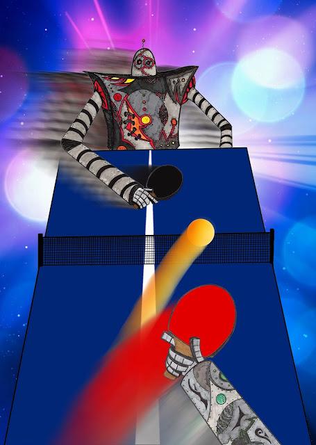 Dessins Fantastiques Robots+jouant+au+ping-pong+-+19