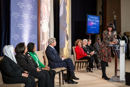 Michelle Obama, with John Kerry Honours Nigerian Woman, Josephine Odumakin