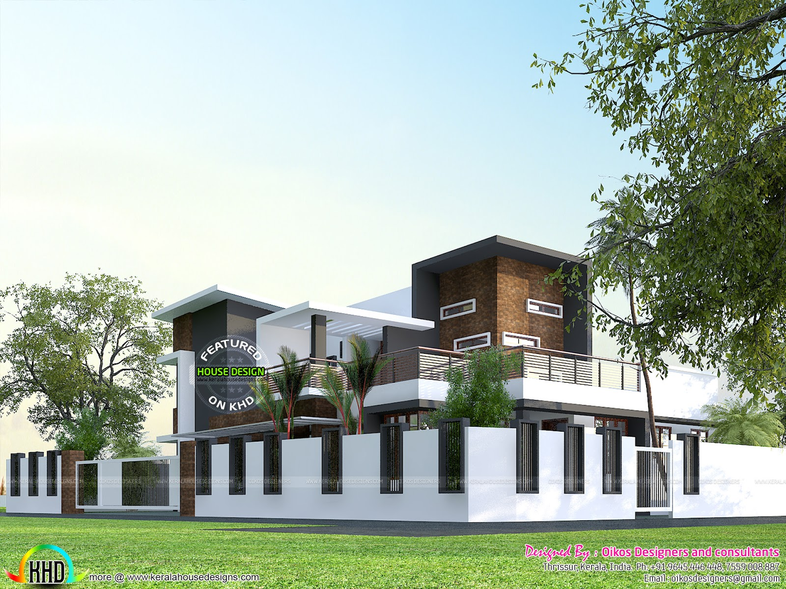 Elevation Floor Plan And Isometric Plan on india front house design