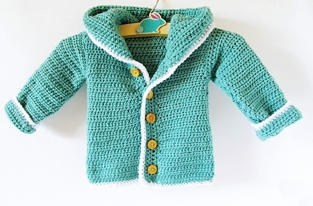 Crochet Pattern Central Baby Cardigans : Crochet Baby Cardigan - Little Things Blogged