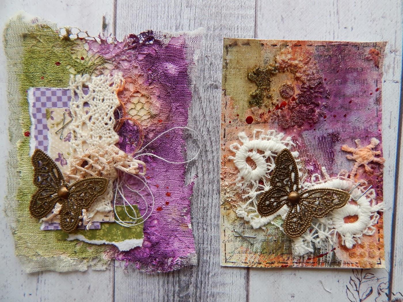 АТС, бабочки, mixed-media