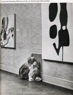 Photographer Unknown, Peeking through the vents at the San Francisco Museum of Art, prior to the 1970's.
