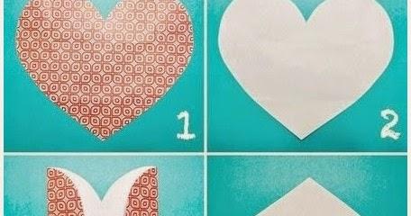 Tarjeta con forma de coraz n manualidades f ciles - Como hacer un corazon con fotos ...