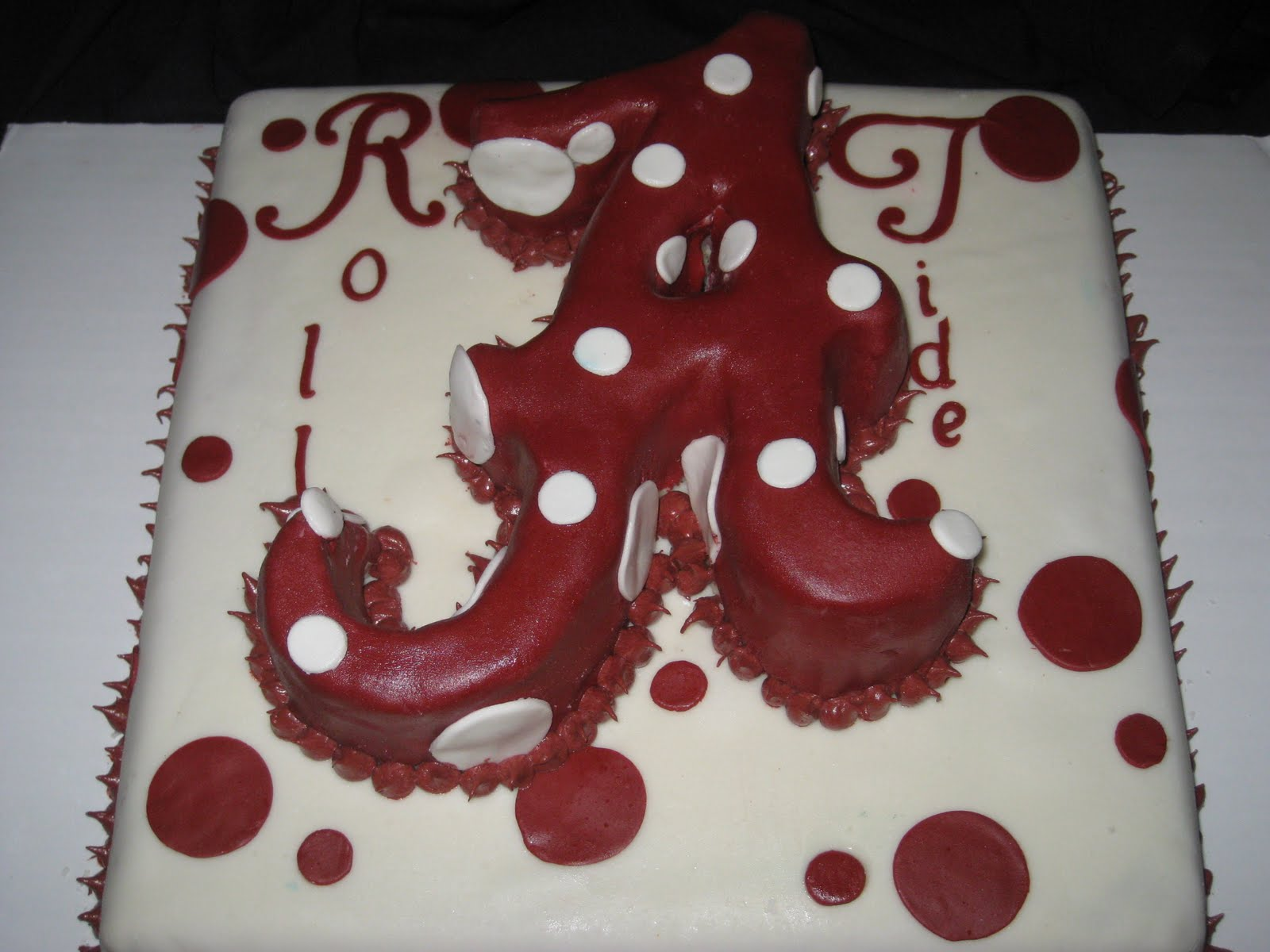 Cakes by Candice Roll Tide Roll