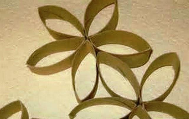 cara membuat kerajinan bunga dari karton