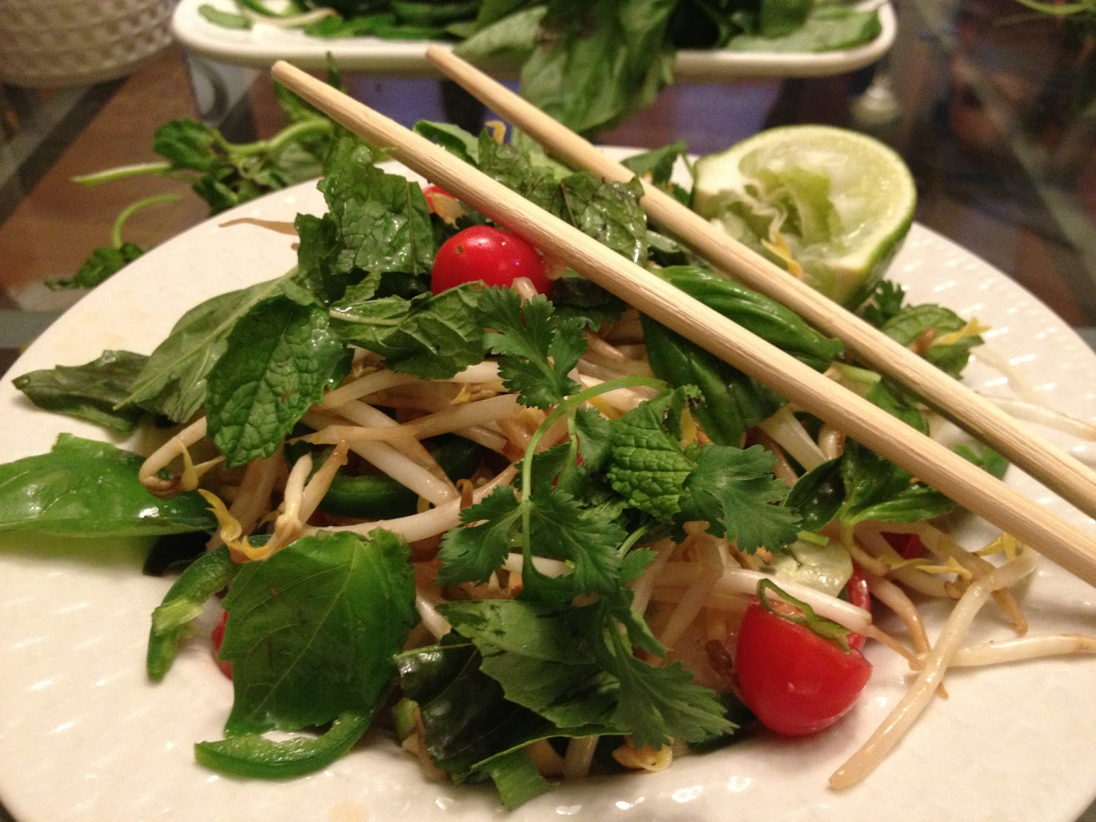 Life is Delicious: Thai Chicken and Shrimp Noodle Salad