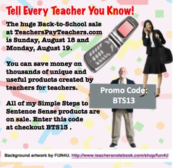Huge Back to School Sale at TeachersPayTeachers.com photo