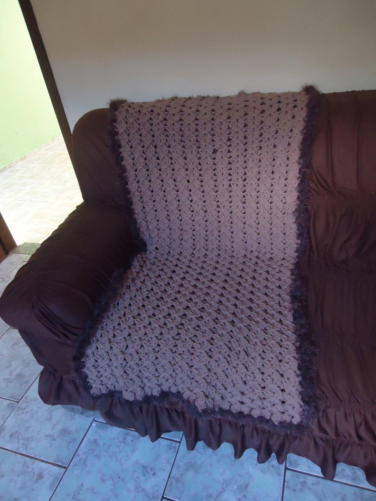 Atelie aline croche manta para sofa ponto colmeia - Manta para sofa ...