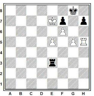 Posición de la partida de ajedrez Krivonosov - Shelest (Tallin, 1990)