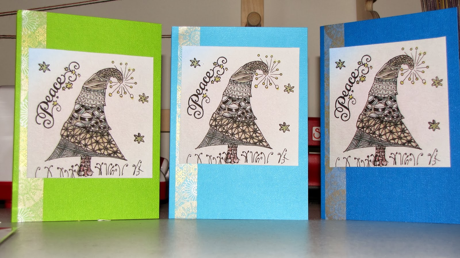 Crafterdays: Holiday Creations: Zentangle® Christmas Cards