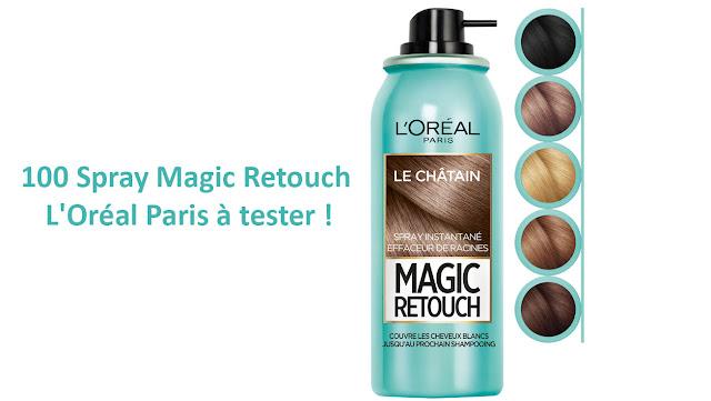 Test Produit 100 Spray Magic Retouch de L'Oréal Paris à tester !