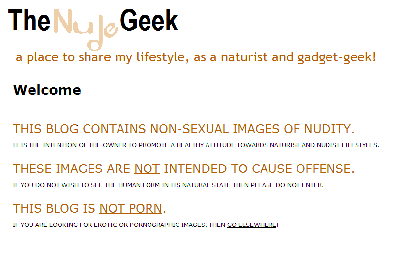 The Nude Geek