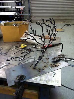 Corten Steel Little Tree Sculpture
