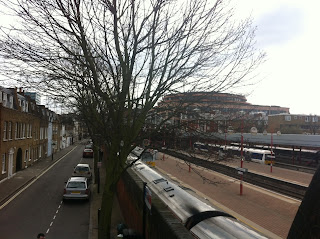 View of Marylebone Station from Rossmore Road, London NW1