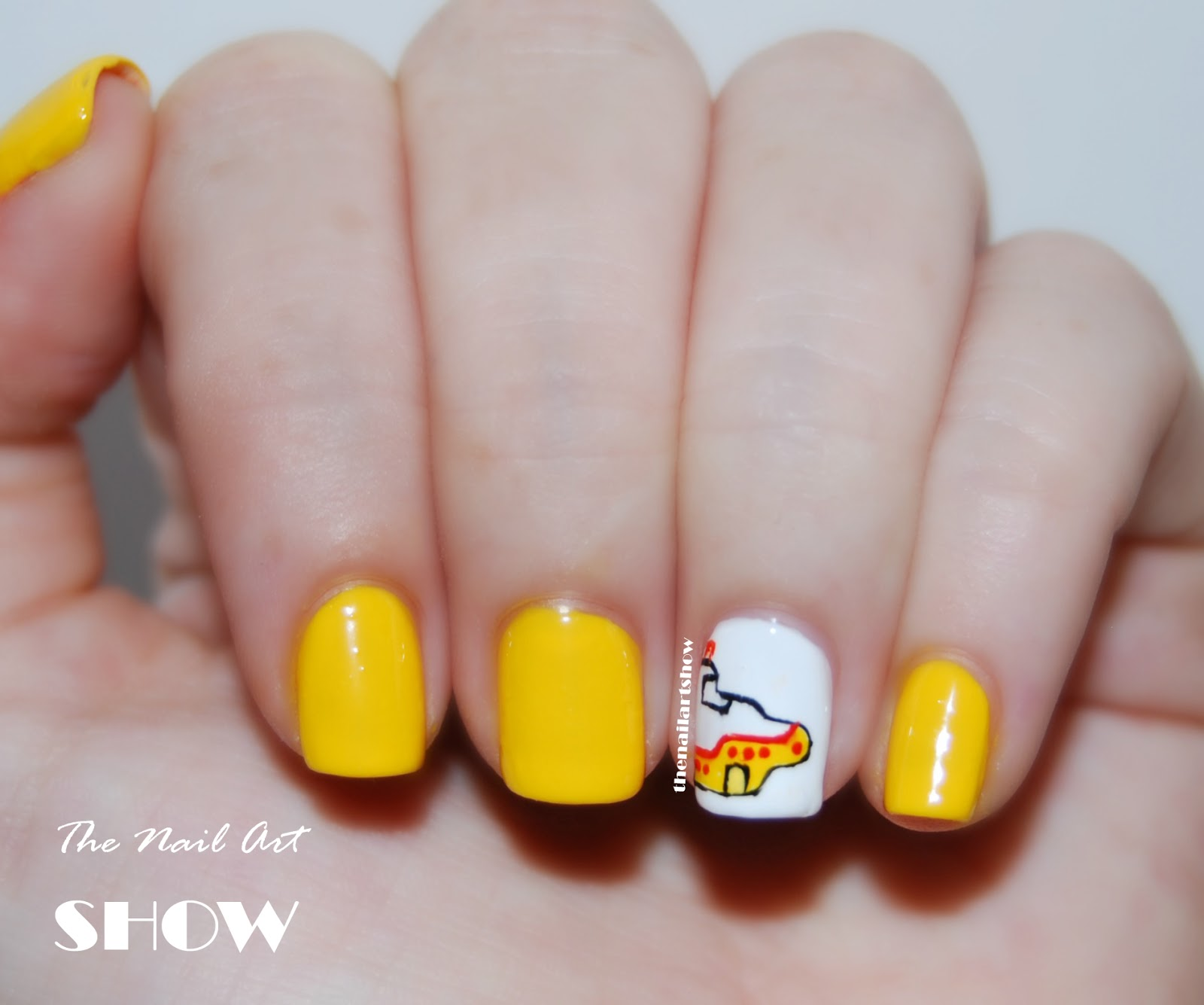 The nail art show 31 day challenge day 3 yellow nails we all 31 day challenge day 3 yellow nails we all live in a yellow submarine prinsesfo Choice Image