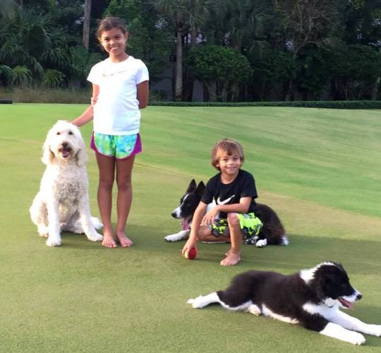 tiger woods shares photos with his children