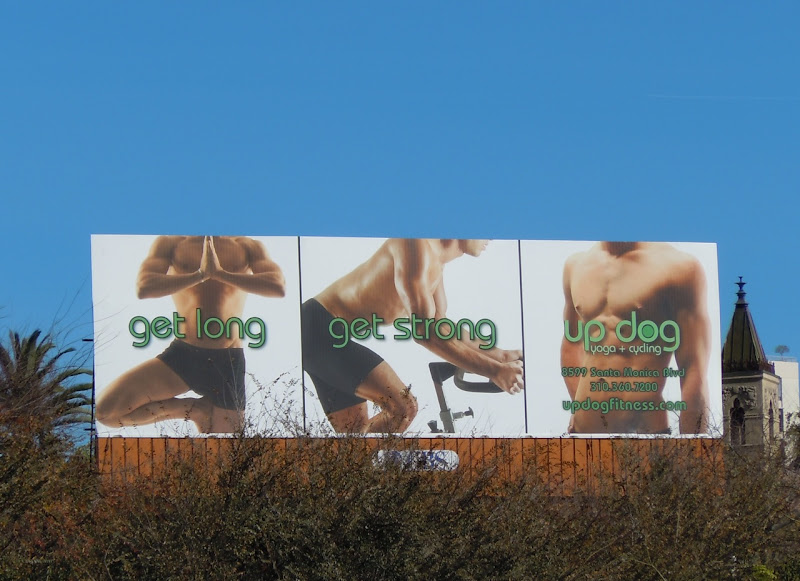 Updog yoga cycling billboard