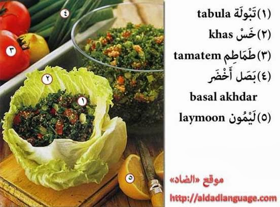 Everyday arabic also it has nice and healthy ingredients learn 5 arabic words from this picture and listen to the audio for pronunciation forumfinder Choice Image