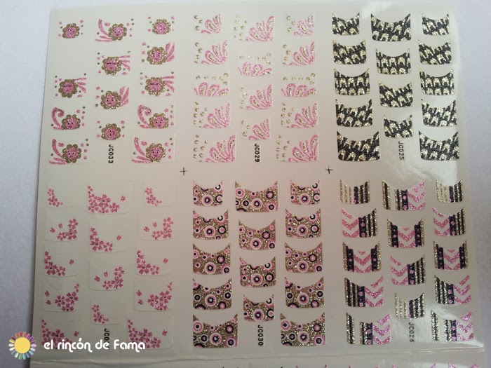 Glitter French Nail Art Sticker