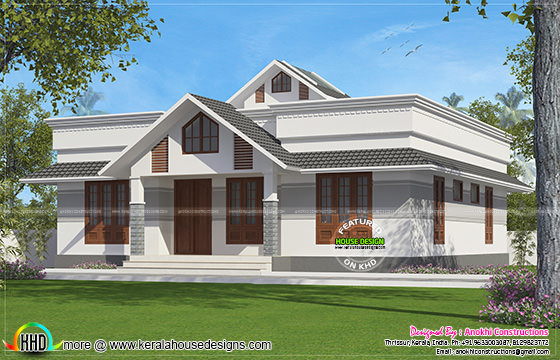 1330 square feet small house plan