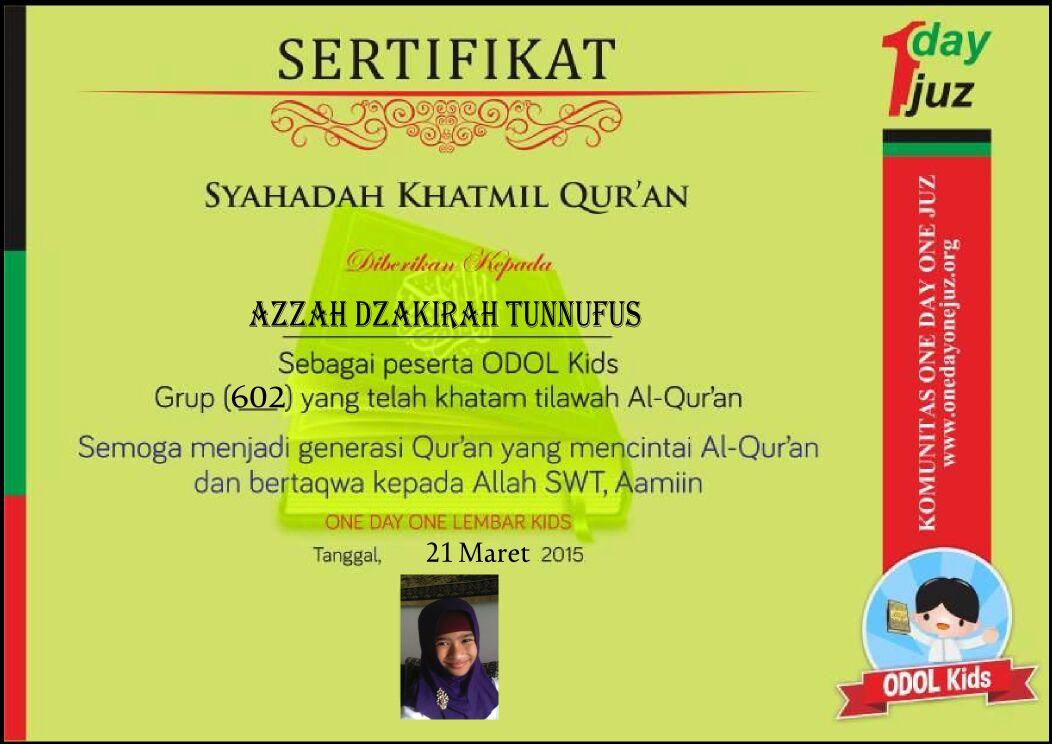 Azzah Dzakirah Khatam Al Qur An