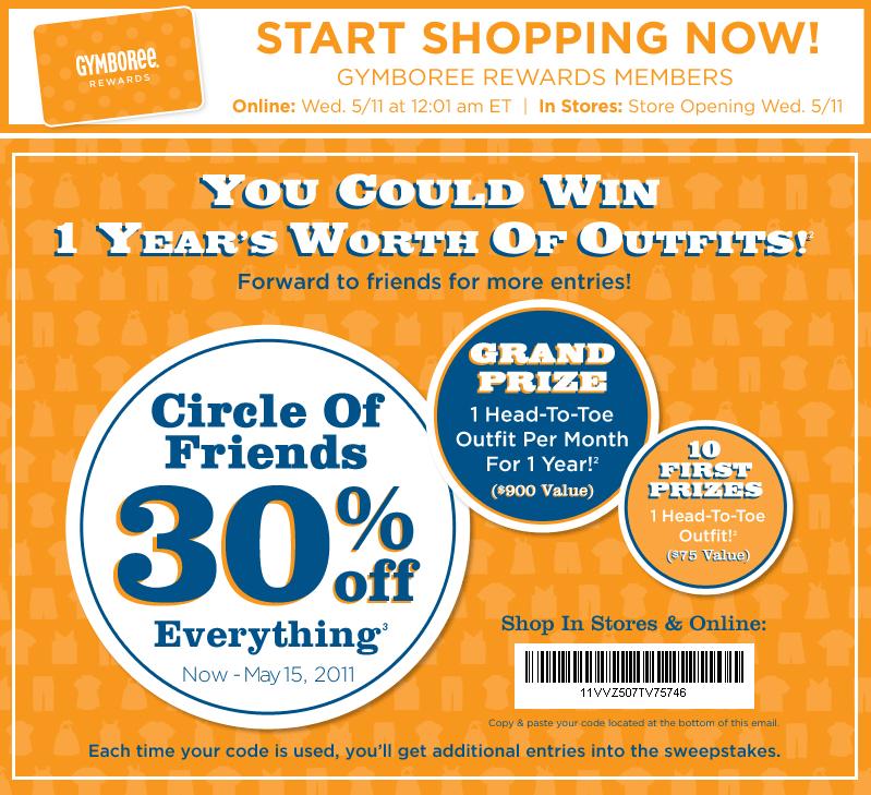 Gymboree coupon code off