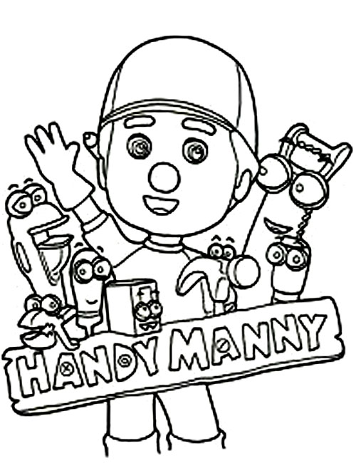 Disney handy manny coloring pages for kids title=