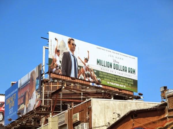 Million Dollar Arm movie billboard