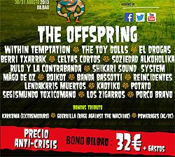 Horarios del Festival En Vivo 2013 de Bilbao