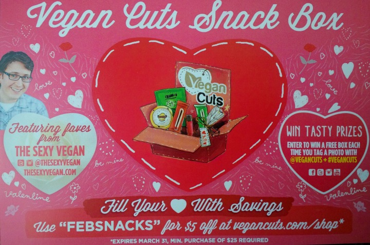 Vegan Cuts Snack Box February 2015 snacks info card