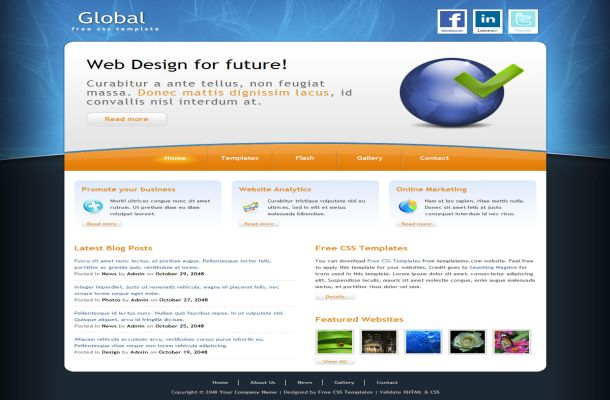 Free Global Business HTML CSS Website Template