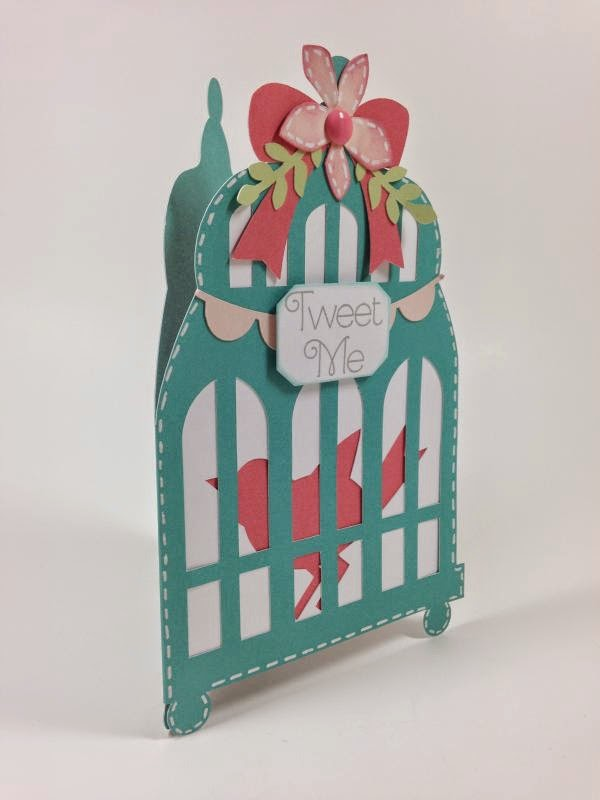 Close To My Heart Artfully Sent Bird Cage card side view