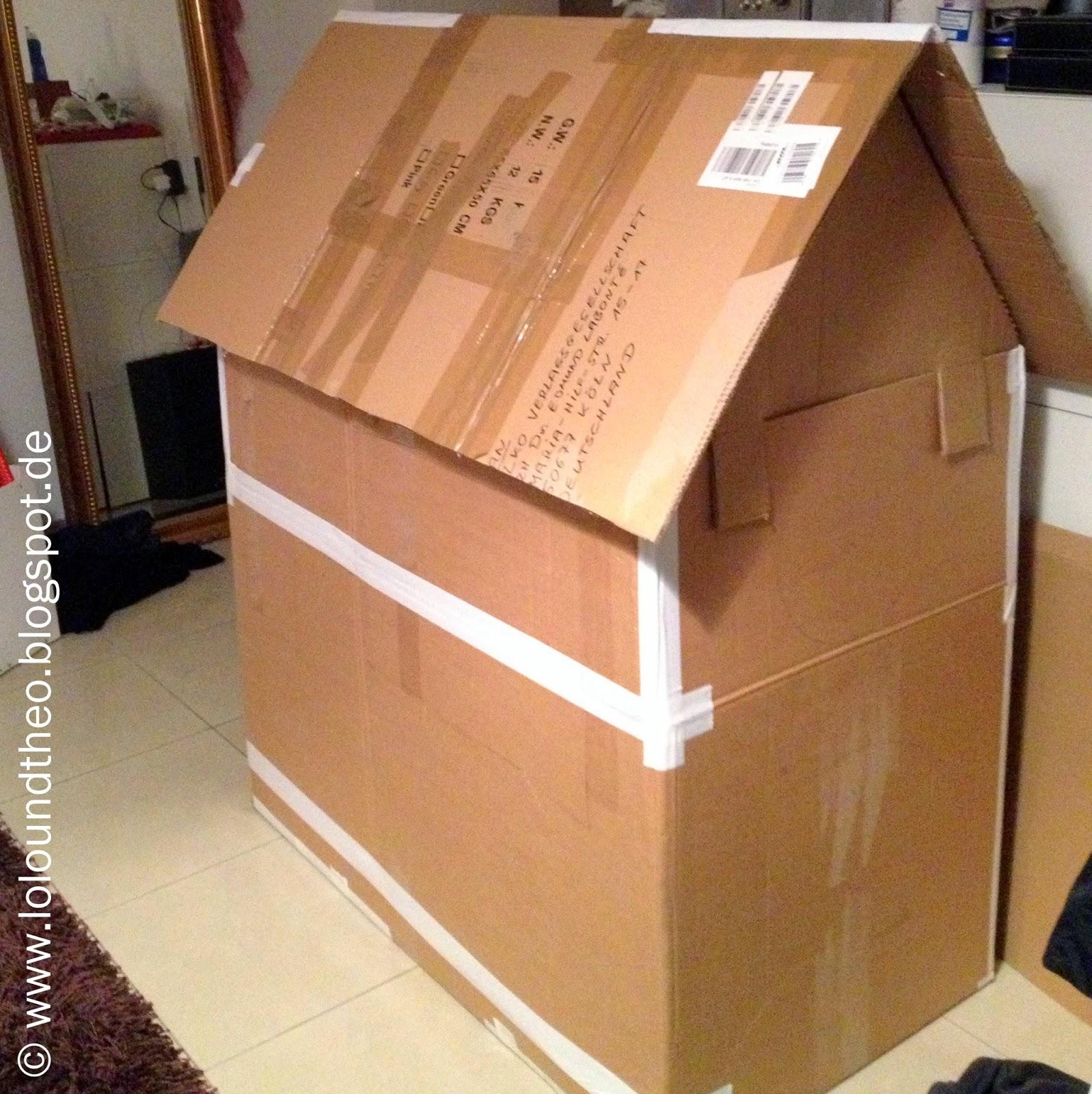 lolo und theo ein kunterbuntes spielhaus selbstgemacht aus pappkartons. Black Bedroom Furniture Sets. Home Design Ideas