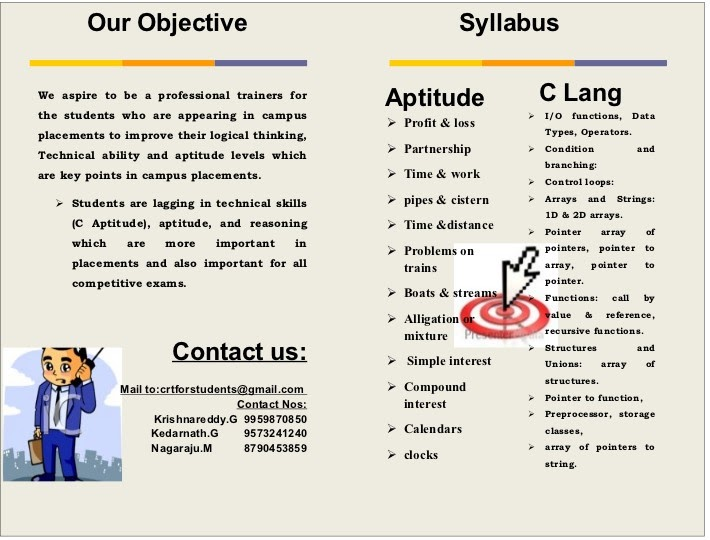 campus recruitment training program  our objective and