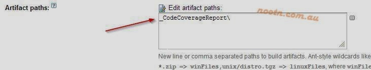 Code Coverage Team City Artifact Path