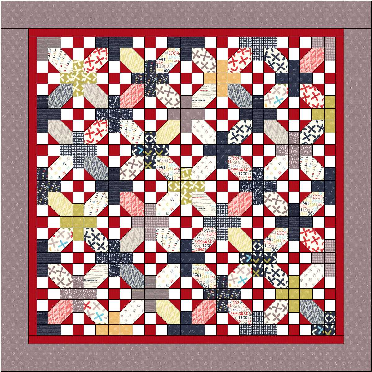 Layer Cake Quilt Missouri Star : ?Nough Said? Layer Cake Quilt   Moda Bake Shop