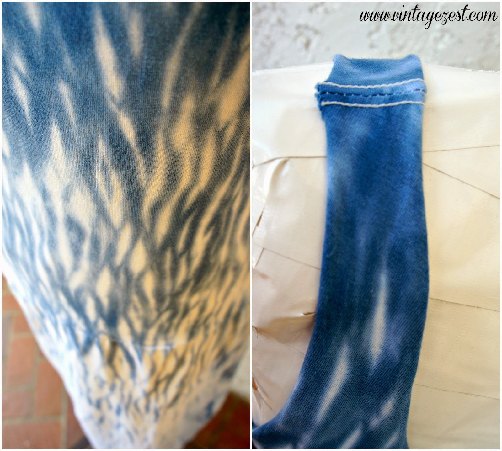 Shibori Print Dress on Diane's Vintage Zest!