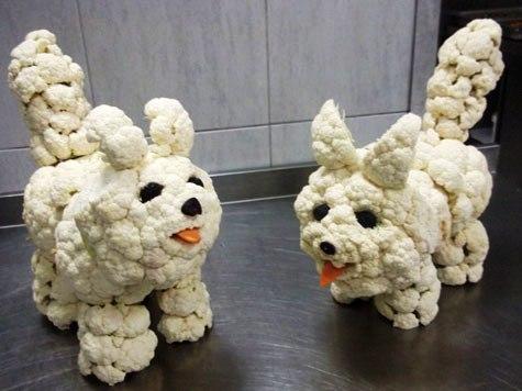 Cute cauliflower carving
