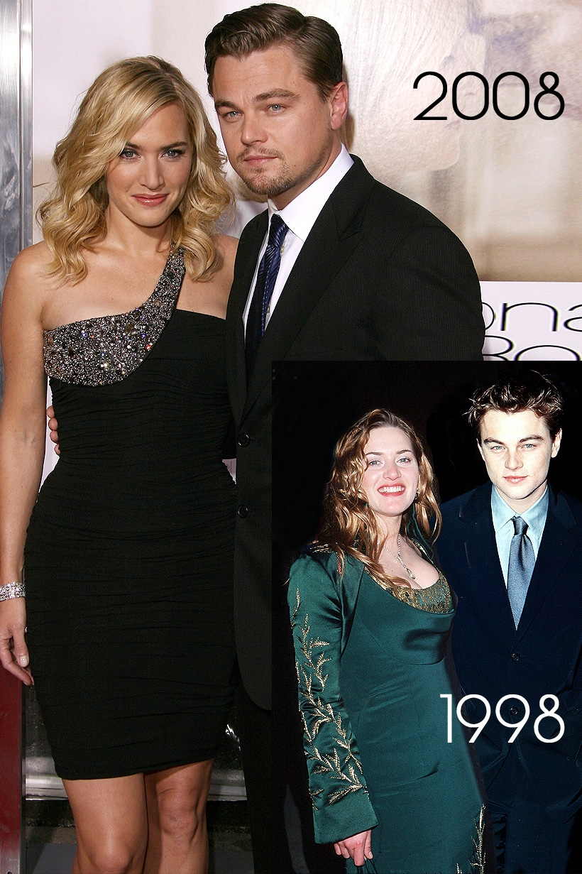 Leonardo Dicaprio with Kate Winslet