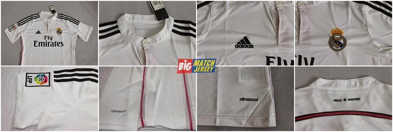 Detail Jersey Real Madrid New Season 2014 – 2015 Couple