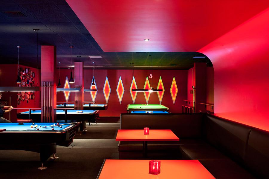 Bar interior design the slate room auckland new for Pool design 1970