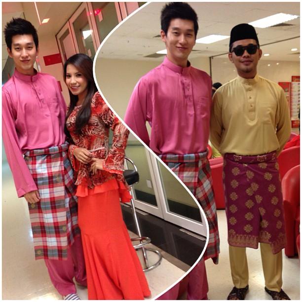 kim jin sung baju melayu pink