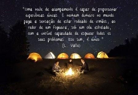 Uma noite de acampamento...
