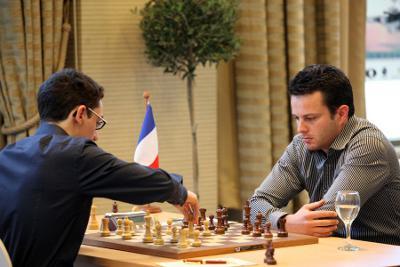 Ronde 6 : Fabiano Caruana (2774) 1-0 Etienne Bacrot (2725) - Photo © Anastasia Karlovich