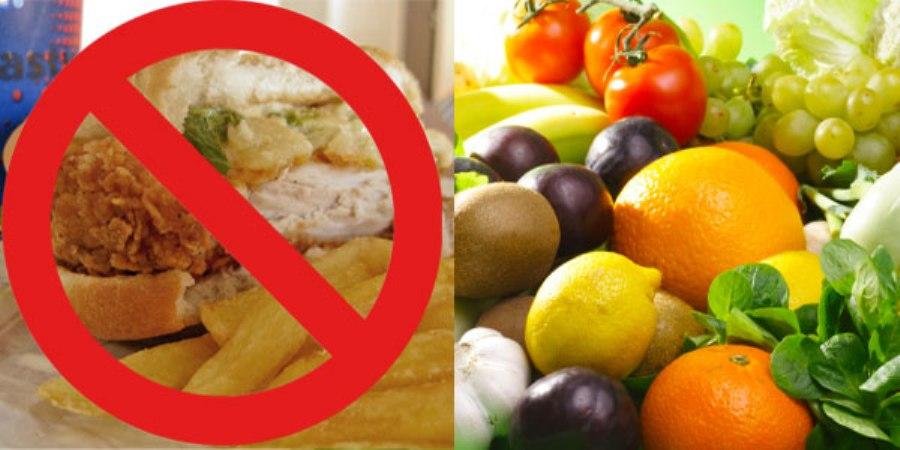 how to get off junk food