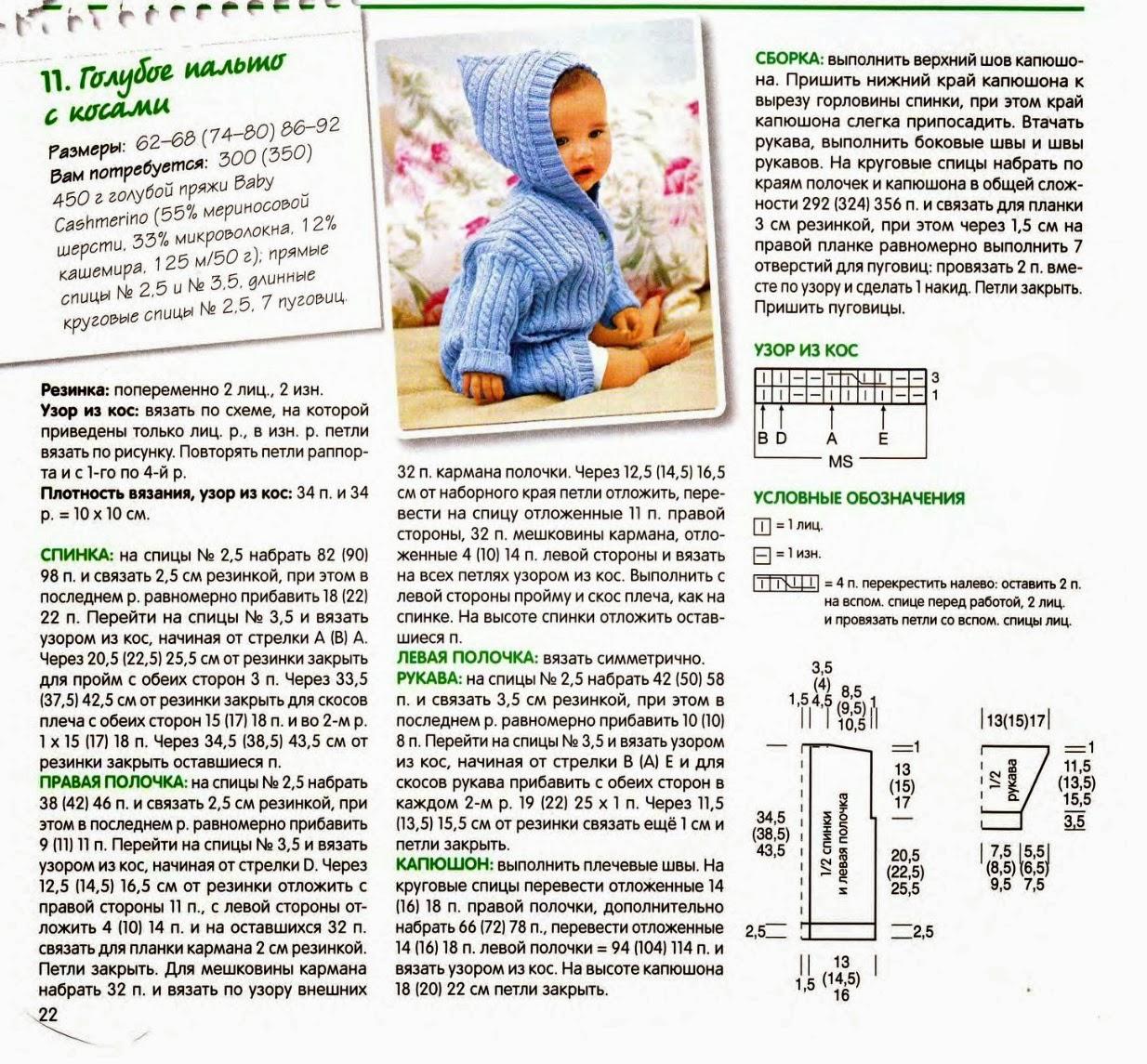 Вязание спицами для детей с описанием и