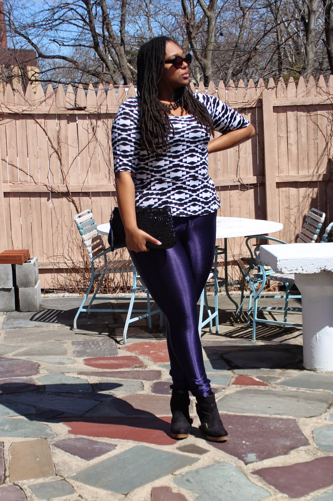 Purple American Apparel Disco Pants